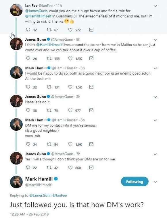 James Gunn Mark Hamill