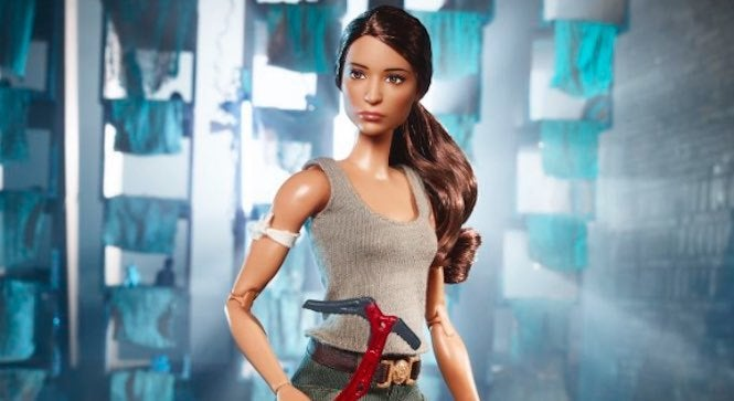 Toymaker Mattel has revealed a new Lara Croft Barbie doll