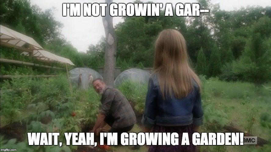 negan garden 1086988 the walking dead' mid season 8 premiere spawns savage negan memes