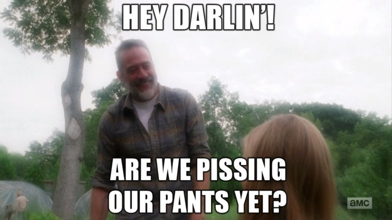 negan meme 1 1086989 1280x0 the walking dead' mid season 8 premiere spawns savage negan memes
