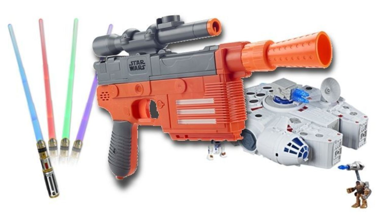 Exclusive Reveal of 'Solo: A Star Wars Story' Nerf Blaster, Lightsaber, and  Millennium Falcon Playset