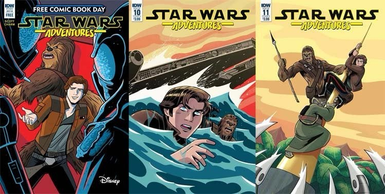 star wars adventures comic han solo