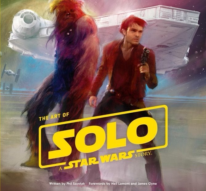 star wars han solo movie art of book