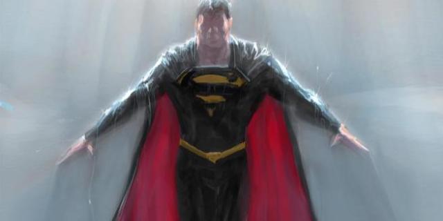 Superman Black Suit in Justice League Mortal