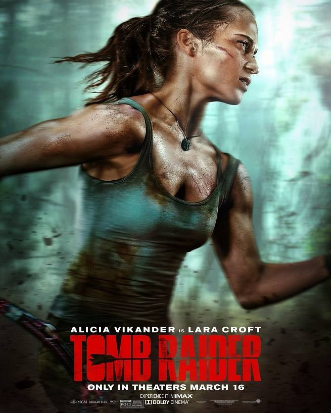 new tomb raider reboot posters reveal alicia vikander as a