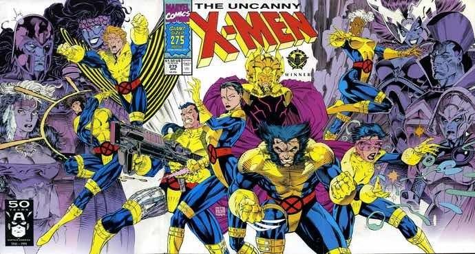 Jim Lee Uncanny X-Men #275 cover