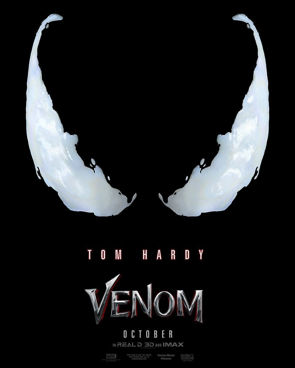 Venom poster released, trailer to arrive on Thursday