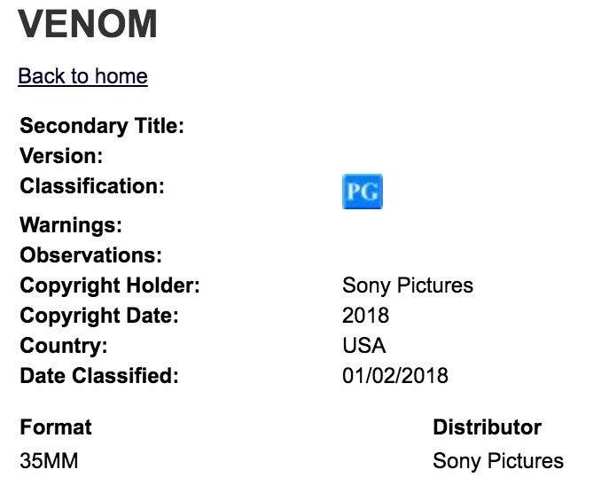 Venom-Classification-Trailer