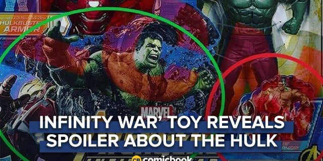'Avengers: Infinity War' Toy Possibly Reveals Major Spoiler About the Hulk screen capture