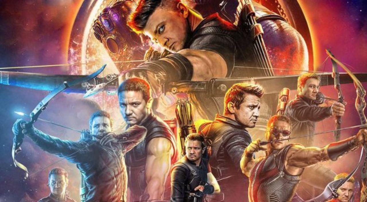 marvel fan gives 'avengers: infinity war' poster an all-hawkeye makeover