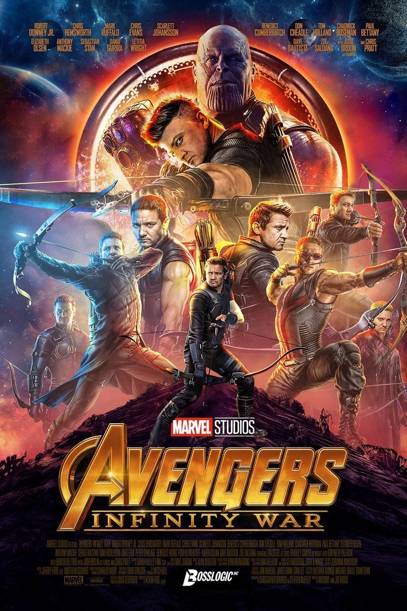 Infinity War Poster All Hawkeye