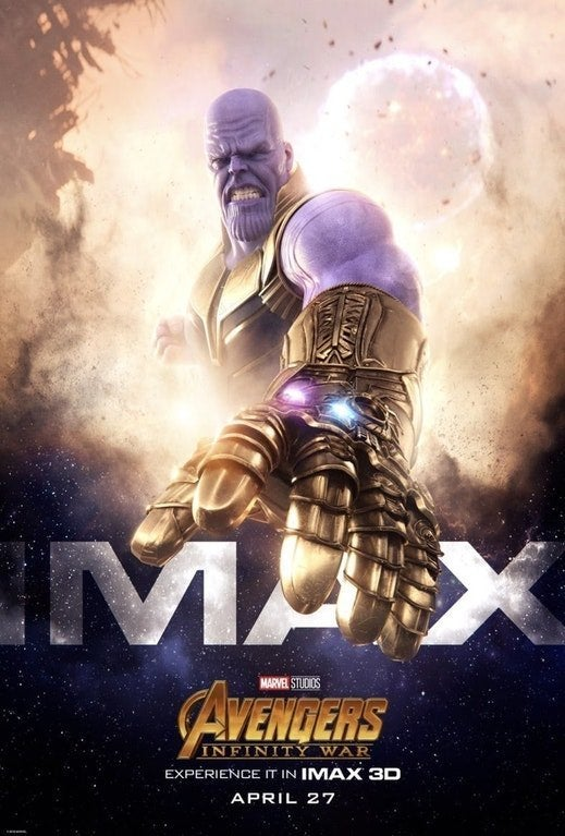 Infinity War Poster Imax