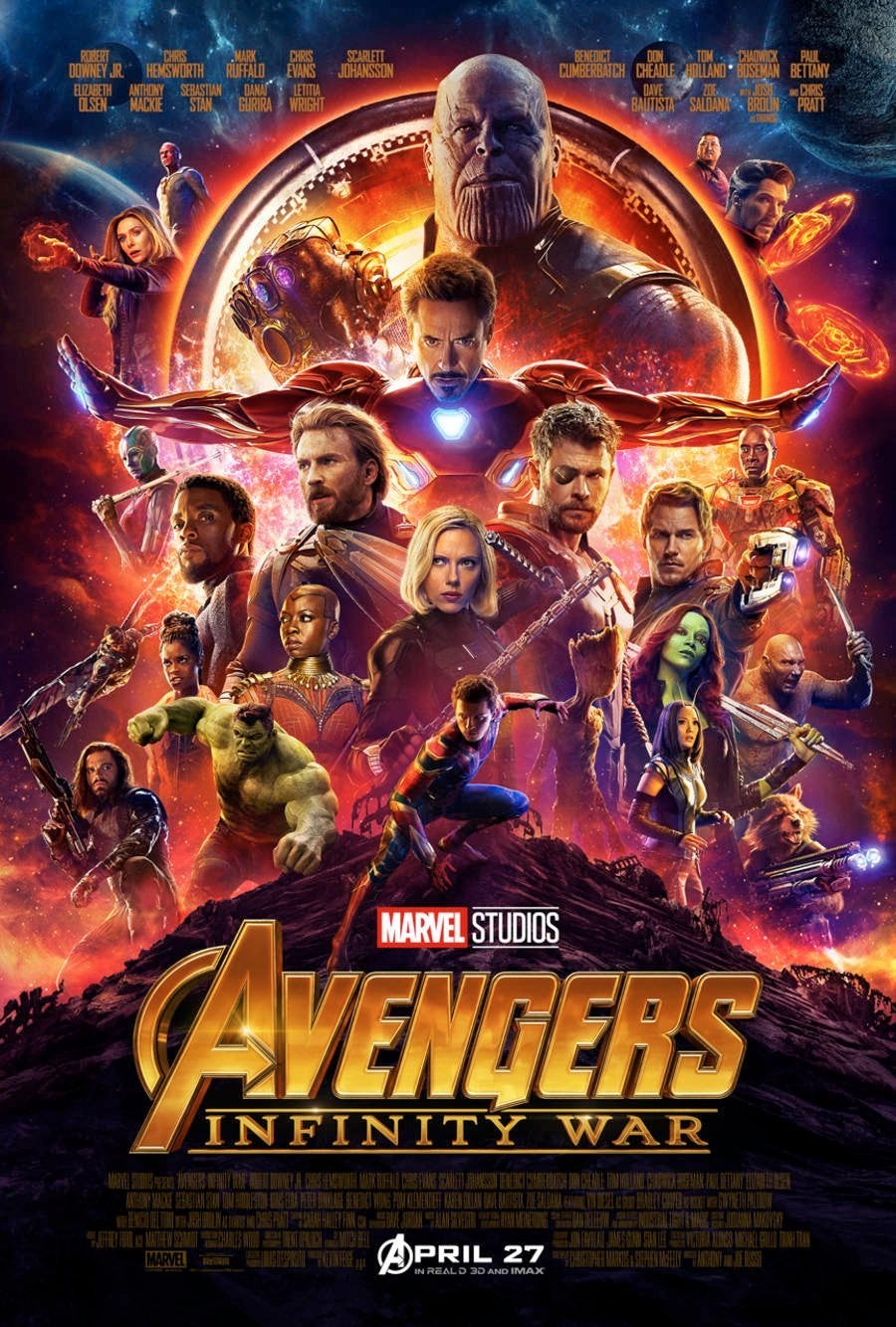 Infinity War Poster For Sale