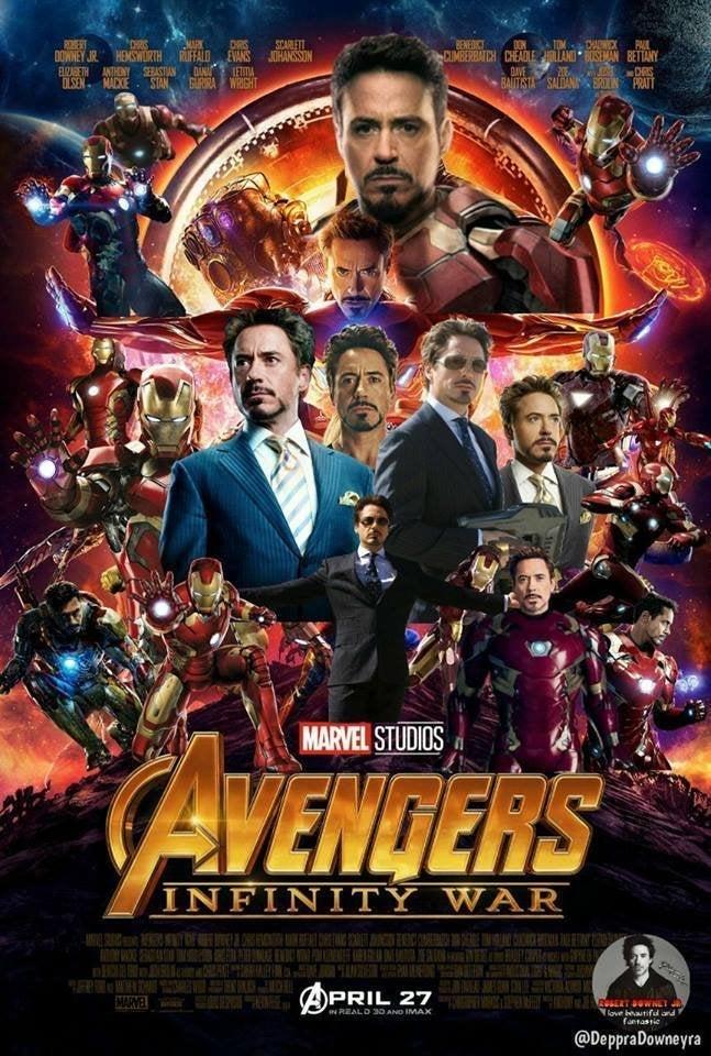 Avengers Infinity War Poster All Iron Man Version