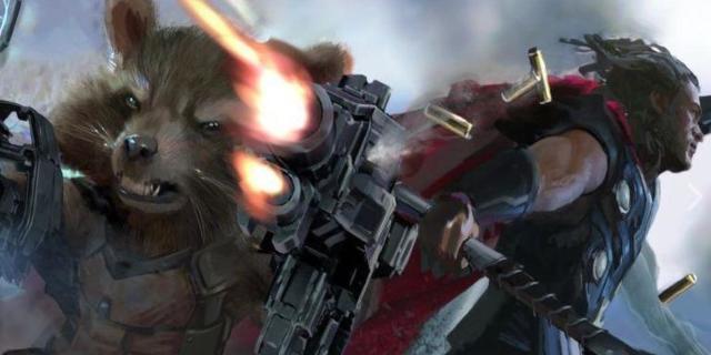 Avengers Infinity War Rocket Raccoon