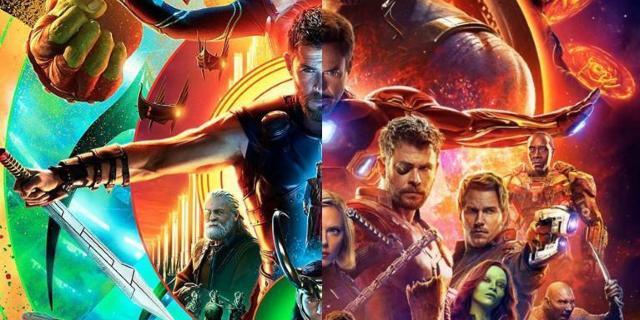 Avengers Infinity War Thor Ragnarok poster
