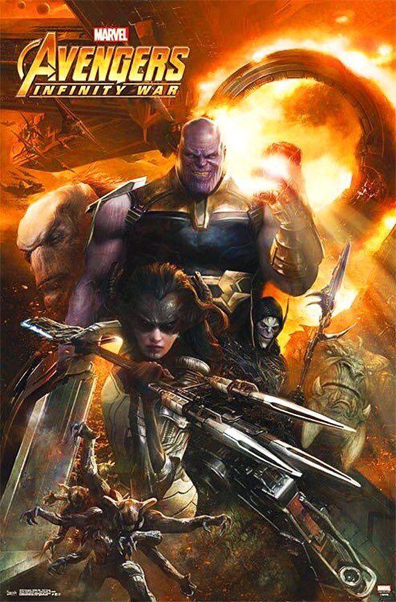 Avengers Ininfity War Promo Art - Thanos and Black Order