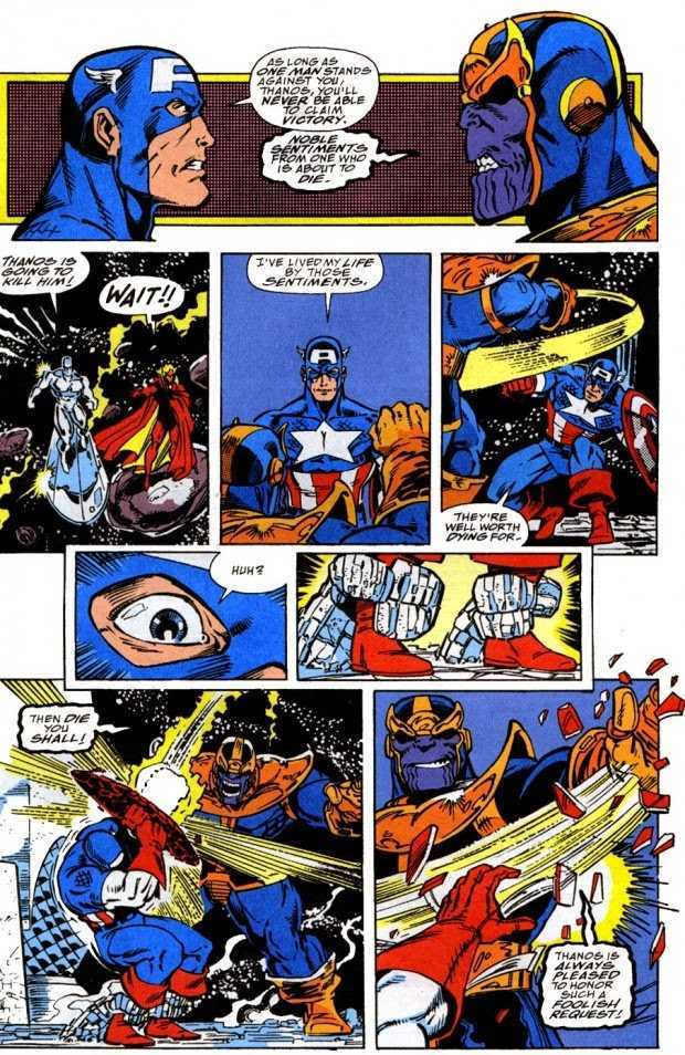 Captain America vs Thanos