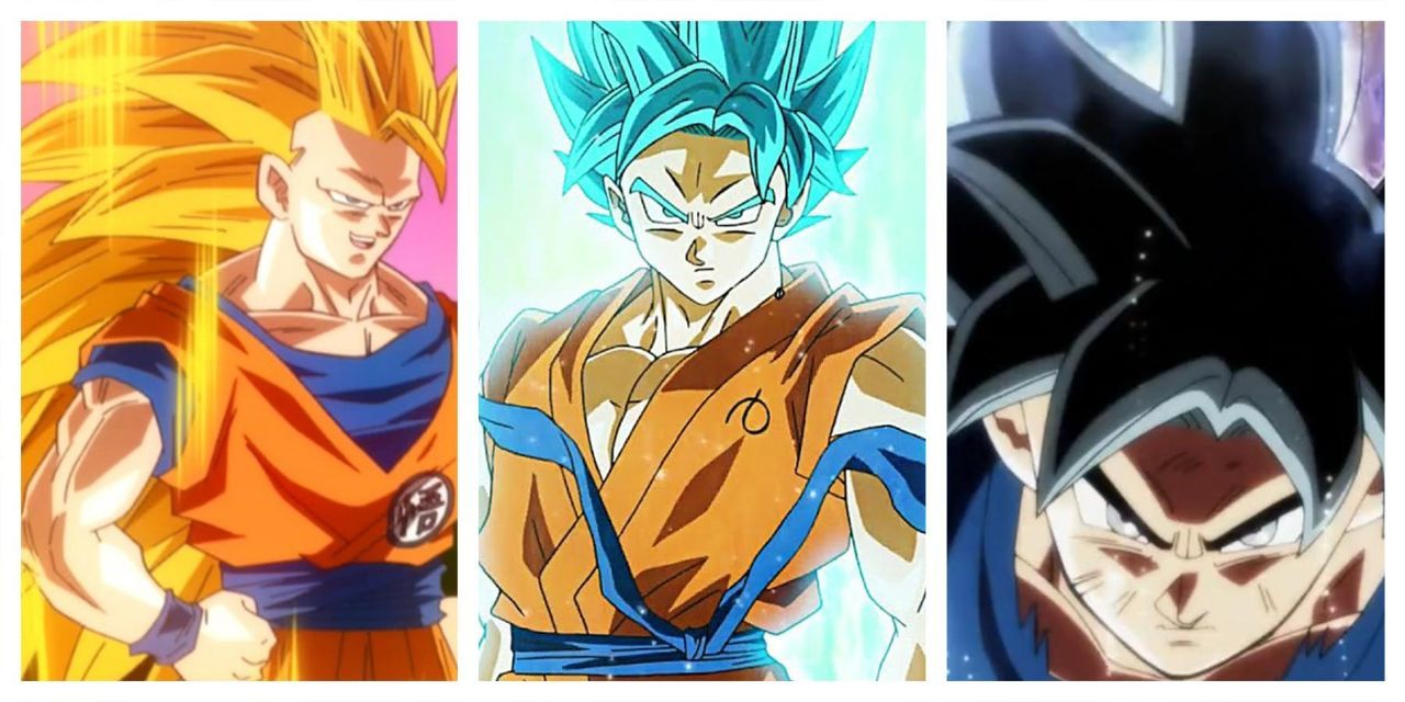 Dragon Ball Goku's Transformations