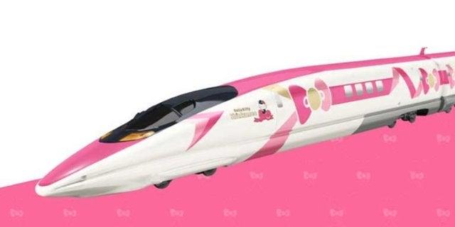 hello kitty bullet train header