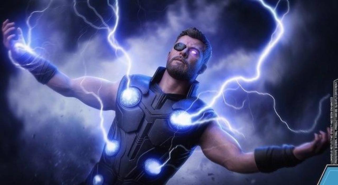 hot toys 'avengers: infinity war' thor figure goes full stormbreaker