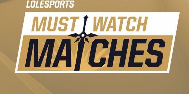 League of Legends Must Watch Matches
