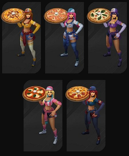 League Of Legends Chromas Revealed For Pizza Delivery Sivir