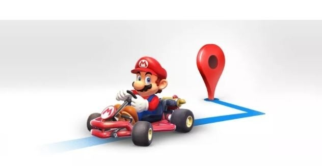 Navigate Google Maps as Super Mario in his go-kart on Mario Day