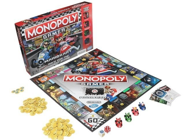 Race to Buy Rainbow Road in MARIO KART MONOPOLY
