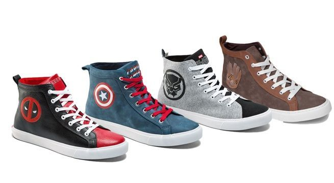 marvel s sneaker collection now includes deadpool captain america