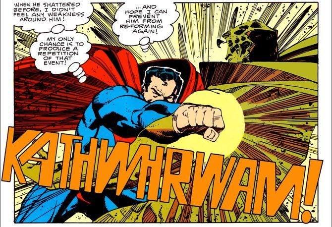Walt Simonson Superman powerful punch