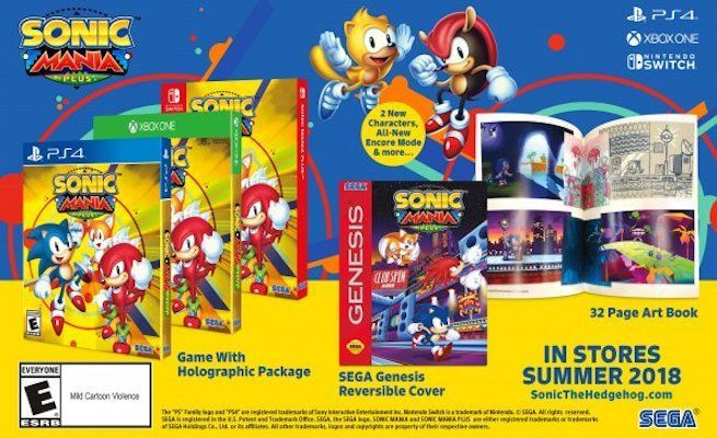 Sonic Mania Plus Announced, Physical Release Adds New Characters