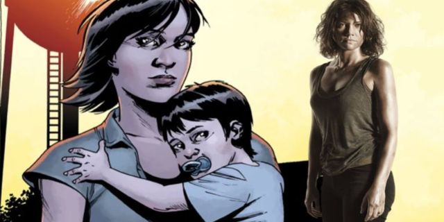 The Walking Dead Maggie baby comicbookcom