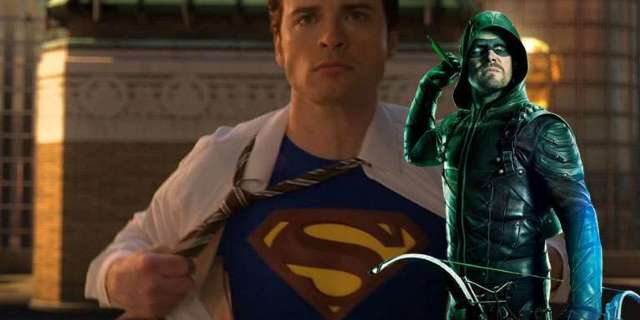 arrow stephen amell smallville tom welling