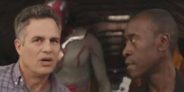 Avengers Infinity War Arrival in Wakanda Rhodey Pranks Banner