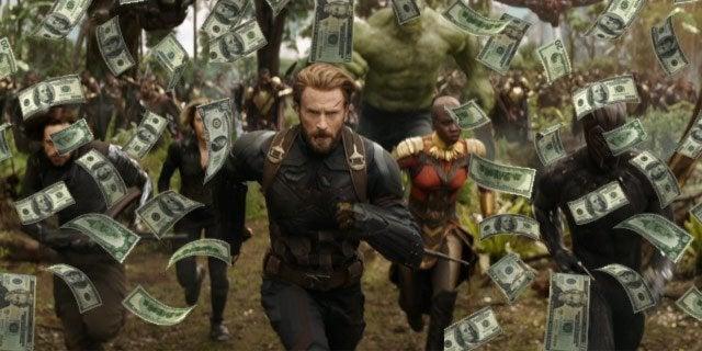 avengers infinity war box office cash