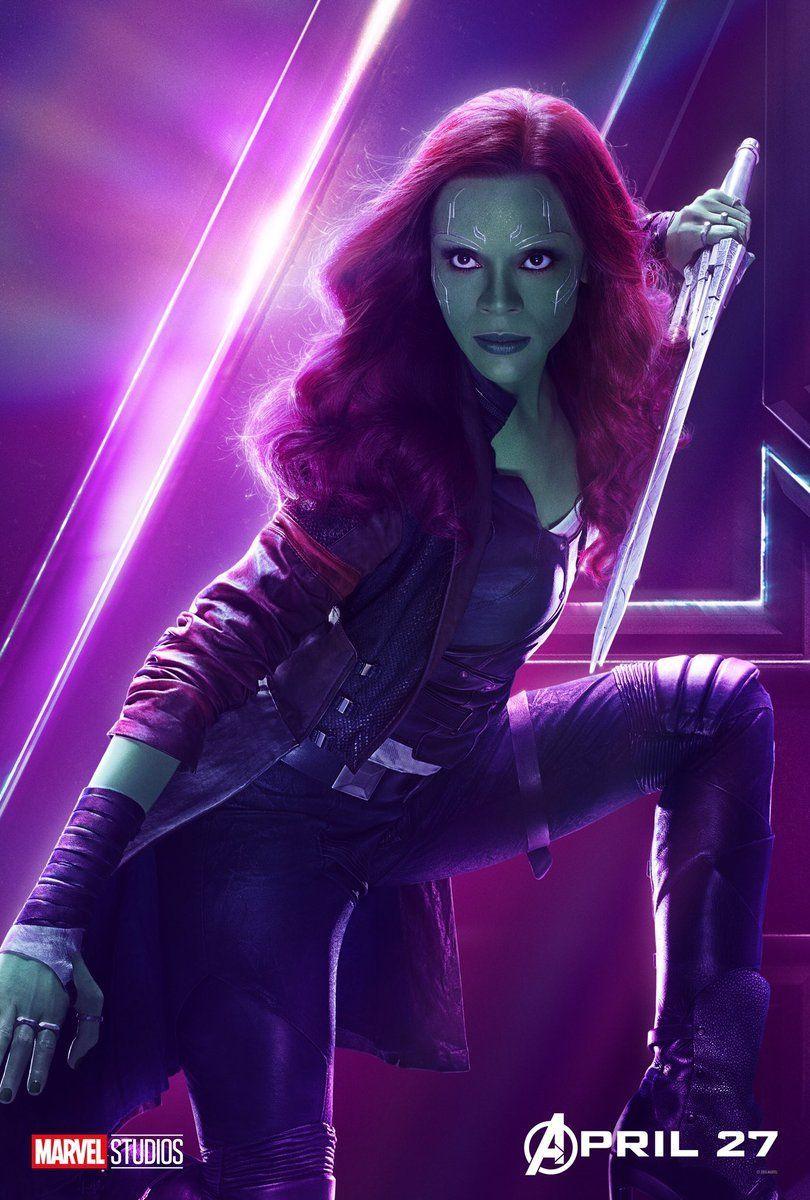 Avengers Infinity War Character Posters - Gamora