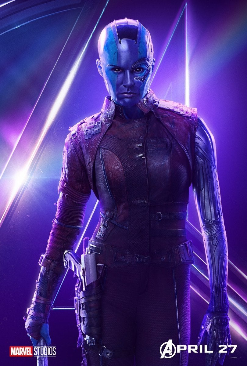 Avengers Infinity War Character Posters - Nebula