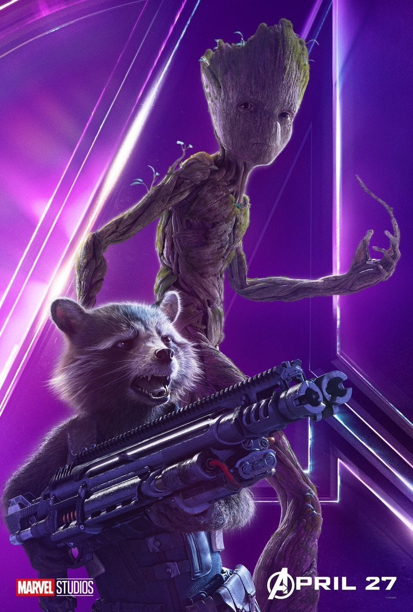 Avengers Infinity War Character Posters - Rocket and Groot