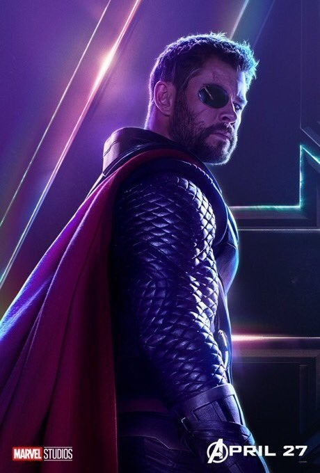 Avengers Infinity War Character Posters - Thor