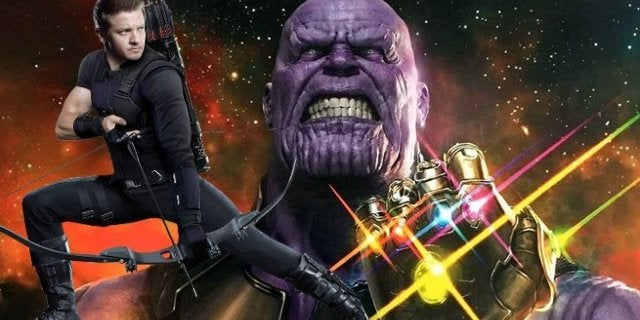 Avengers Infinity War Hawkeye Beats Thanos