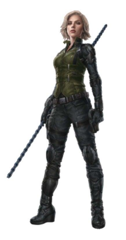 Avengers Infinity War Promo Art - Black Widow