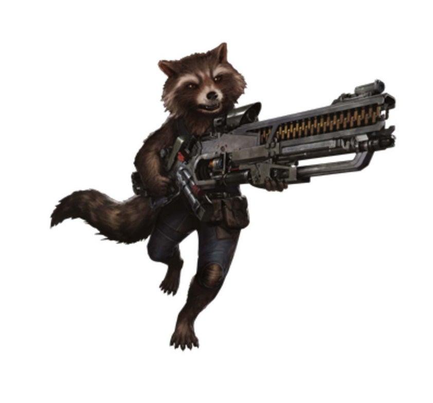 Avengers Infinity War Promo Art - Rocket Raccoon