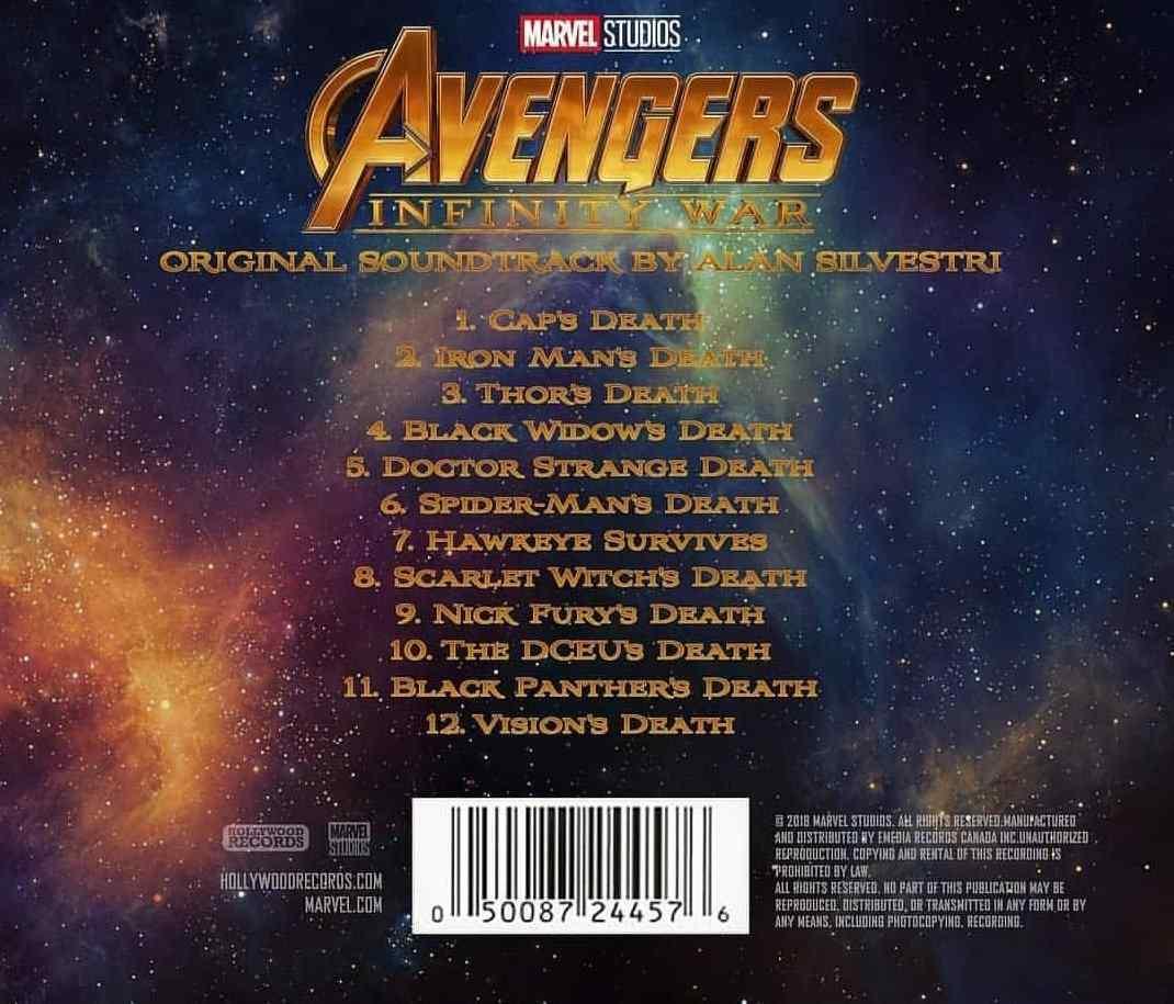 avengers infinity war soundtrack