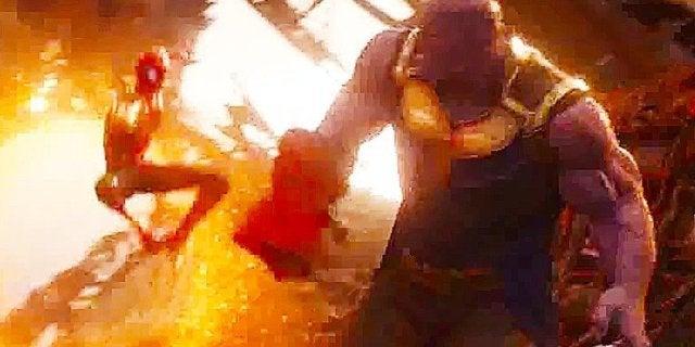 Avengers Infinity War Spider-Man Vs Thanos