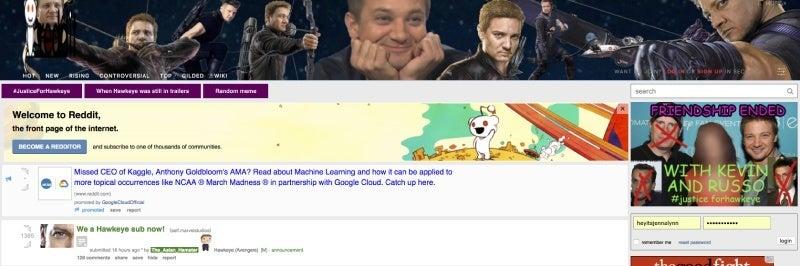 avengers infinity war subreddit hawkeye