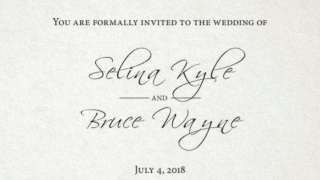 Batman and Catwoman Wedding Save The Date