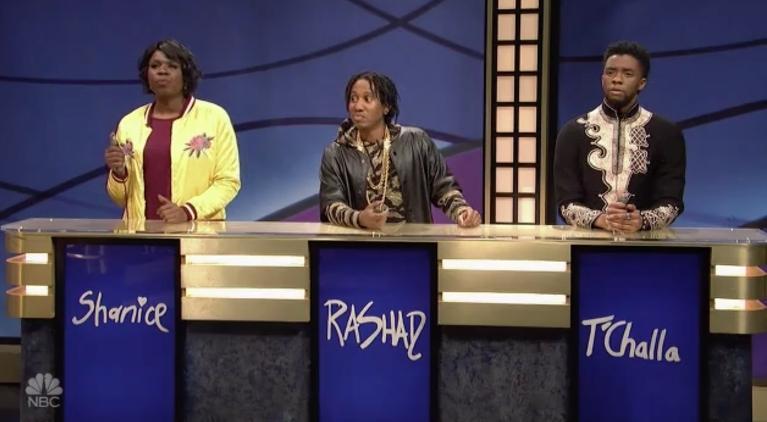 black-panther-chadwick-boseman-saturday-night-live-black-jeopardy
