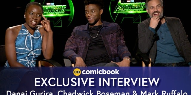 Danai Gurira, Chadwick Boseman, and Mark Ruffalo Talk Avengers: Infinity War screen capture