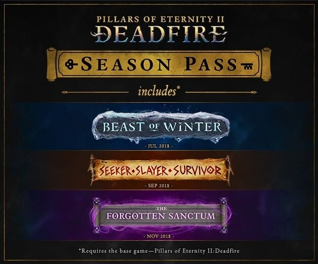 Pillars of Eternity II: Deadfire Announces Three